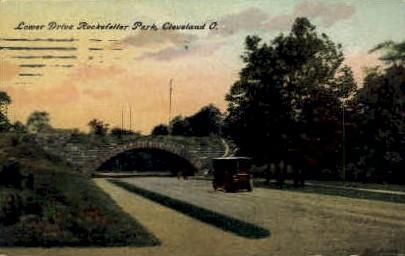 Lower Drive Rockefeller Park - Cleveland, Ohio OH Postcard