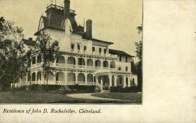 Residence of John D. Rockefeller - Cleveland, Ohio OH Postcard
