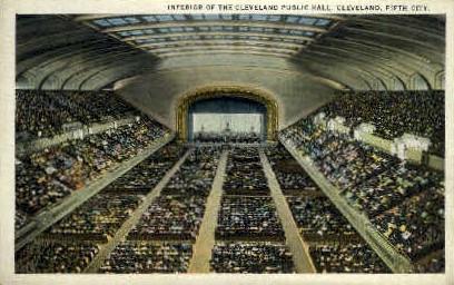 The Cleveland Public Hall - Ohio OH Postcard