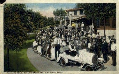 The Auto Train, Euclid Beach Park - Cleveland, Ohio OH Postcard