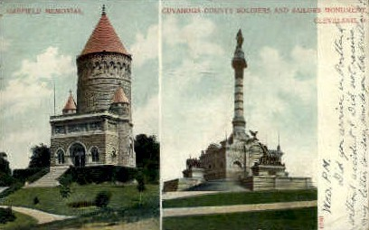 Cuyahoga County Soldiers - Cleveland, Ohio OH Postcard