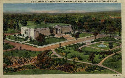 Art Museum and Fine Arts Garden - Cleveland, Ohio OH Postcard