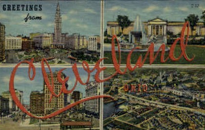 Greetings From - Cleveland, Ohio OH Postcard