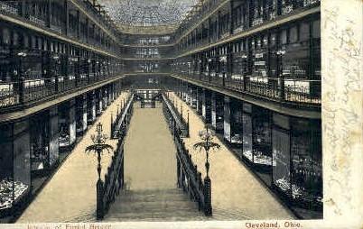 Interior of Euclid Arcade - Cleveland, Ohio OH Postcard