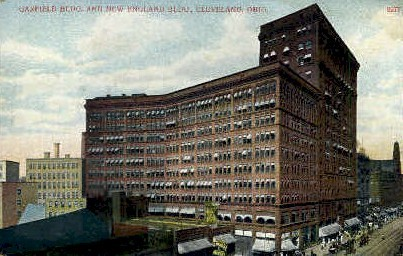 Garfield Building and New England Building - Cleveland, Ohio OH Postcard