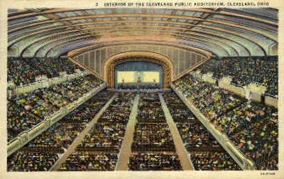 Cleveland Public Auditorium - Ohio OH Postcard