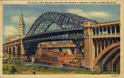 High Level Bridge - Cleveland, Ohio OH Postcard