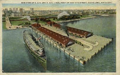 New Pier - Cleveland, Ohio OH Postcard