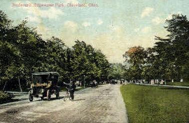 Boulevard, Edgewater Park - Cleveland, Ohio OH Postcard