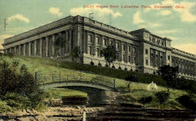 Court House from Lakeview Park - Cleveland, Ohio OH Postcard