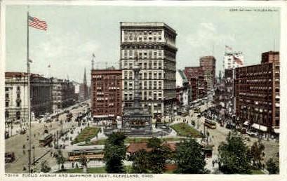 Euclid Avenue, Superior Street - Cleveland, Ohio OH Postcard