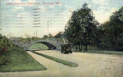 Lower Drive Near Wade Park - Cleveland, Ohio OH Postcard