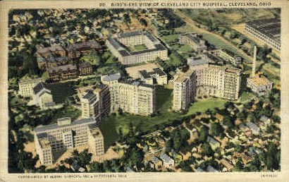 Cleveland City Hospital - Ohio OH Postcard