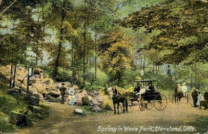 Spring in Wade Park - Cleveland, Ohio OH Postcard
