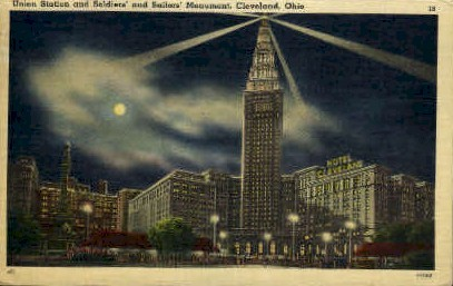 Soldiers & Sailors' Monument - Cleveland, Ohio OH Postcard