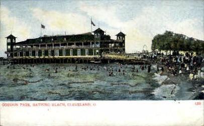 Gordon Park, Bathing Beach - Cleveland, Ohio OH Postcard