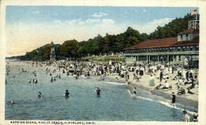 Bathing Scene, Euclid Beach - Cleveland, Ohio OH Postcard