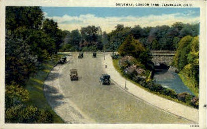 Driveway, Gordon Park - Cleveland, Ohio OH Postcard