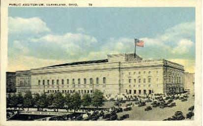 Public Auditorium - Cleveland, Ohio OH Postcard