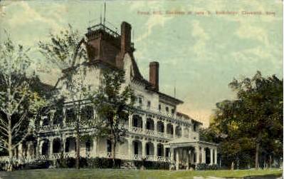 John D. Rockefeller's Residence - Cleveland, Ohio OH Postcard
