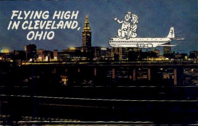 Flying High - Cleveland, Ohio OH Postcard