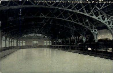 Interior of the Elysium - Cleveland, Ohio OH Postcard