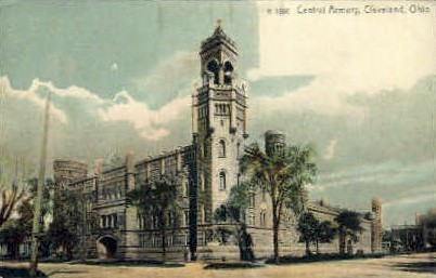 Central Armory - Cleveland, Ohio OH Postcard