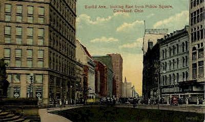 Euclid Ave, Public Square - Cleveland, Ohio OH Postcard