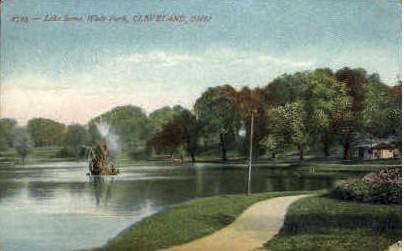 Lake Scene, Wade Park - Cleveland, Ohio OH Postcard