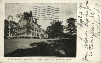 Rockefeller Residence, Forest Hill - Cleveland, Ohio OH Postcard