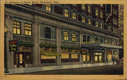 Carter Hotel - Cleveland, Ohio OH Postcard