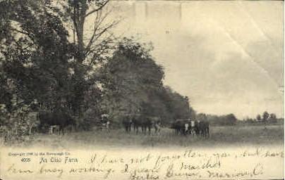 An Ohio Farm - Cleveland Postcard