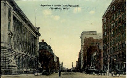 Superior Ave. - Cleveland, Ohio OH Postcard