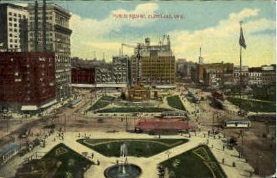 Public Square - Cleveland, Ohio OH Postcard