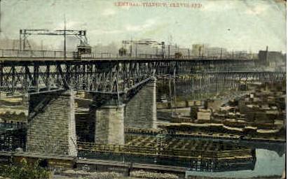 Central Viaduct - Cleveland, Ohio OH Postcard