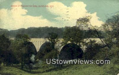 Bridge, Washington Park - Cleveland, Ohio OH Postcard