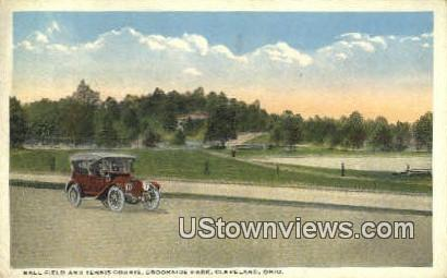 Ball Field & Tennis Courts, Brookside Park - Cleveland, Ohio OH Postcard
