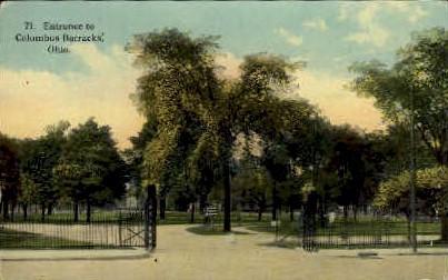 Entrance to Columbus Barracks - Ohio OH Postcard