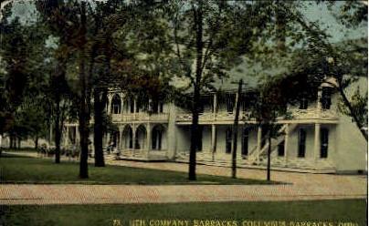 11th Company Barracks - Columbus Barracks, Ohio OH Postcard