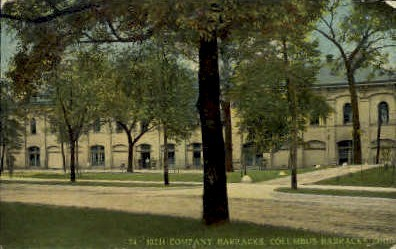10th Company Barracks - Columbus Barracks, Ohio OH Postcard