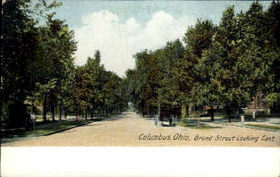 Broad Street - Columbus, Ohio OH Postcard