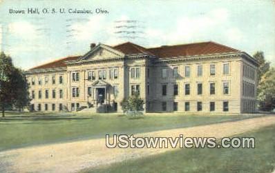 Brown Hall, OSU - Columbus, Ohio OH Postcard