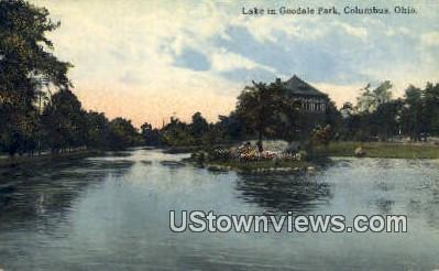 Lake, Goodale Park - Columbus, Ohio OH Postcard