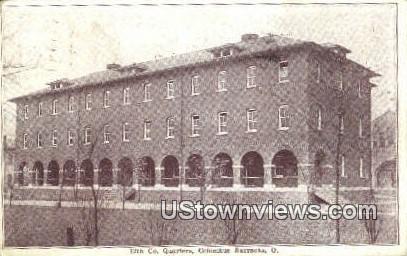 12th Co Quarters - Columbus Barracks, Ohio OH Postcard