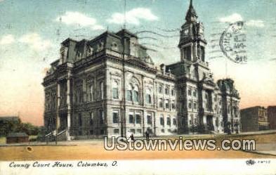 County Court House - Columbus, Ohio OH Postcard