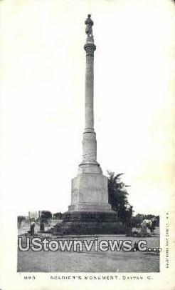 Soldier's Monument - Dayton, Ohio OH Postcard