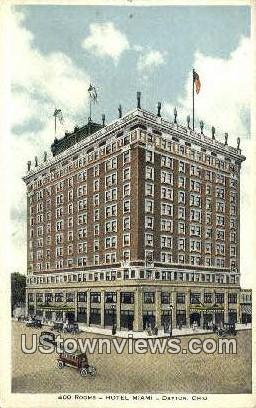 Hotel Miami - Dayton, Ohio OH Postcard