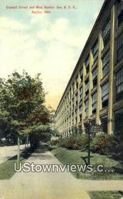 Stewart Street - Dayton, Ohio OH Postcard