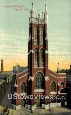 Masonic Temple - Dayton, Ohio OH Postcard