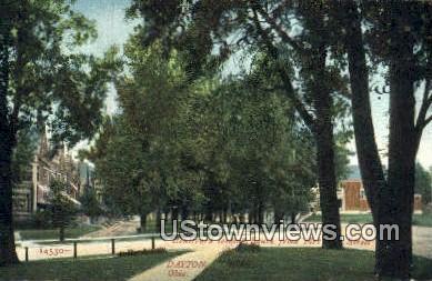 Blvd, Frit Street - Dayton, Ohio OH Postcard